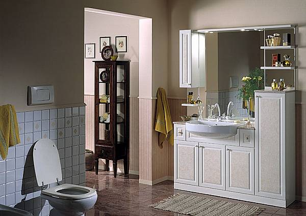 Bagni in stile classico b p beretta production di m beretta - Mobile bagno classico bianco ...